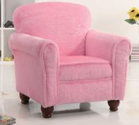 Kids Plush Youth Chair in Fuzzy Pink - Stargate Cinema