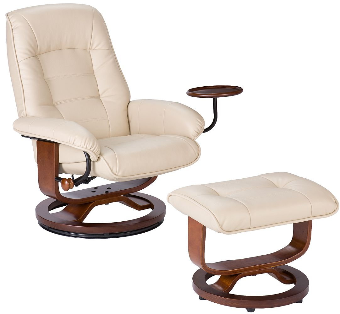 euro recliner chair human touch massage swivel recliners stargate cinema taupe leather and ottoman