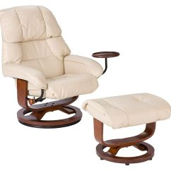 Euro Recliner Chair Brenton Studio Style And Ottoman In Taupe Leather