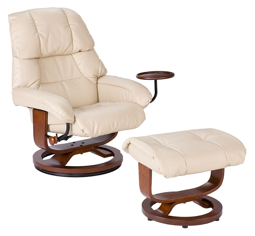 recliner vs chair with ottoman outdoor patio high chairs euro style and in taupe leather