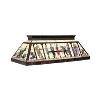 Bistro Stained Glass Pool Table Light - Stargate Cinema