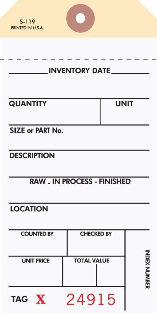 2 Part Inventory Tags STWCC-313