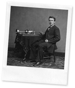 Edison and phonograph