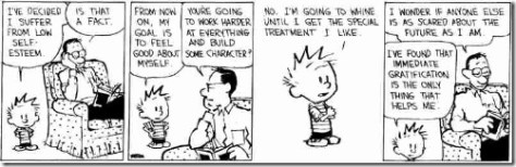 Calvin on building character © Bill Watterson