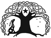 Tree celtic knot with hare and starts