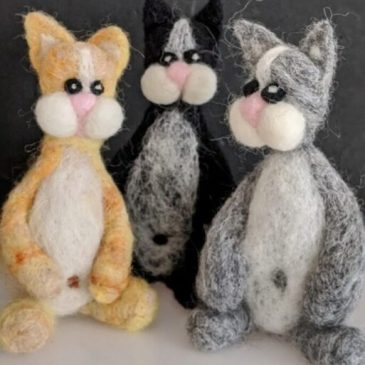 Postponed Improvers Needle Felting Workshop: Cats