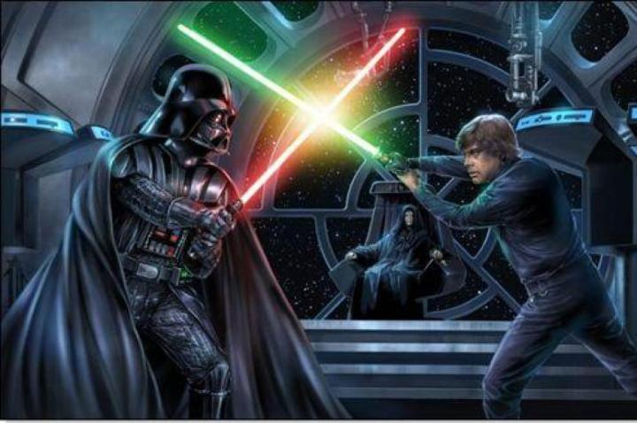 """I hate Darth Vader"" ""No Luke - you must love Darth Vader. Then you can kill him!"""