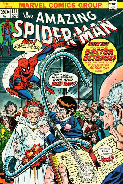 amazing spider-man 131 aunt may wedding dr octopus