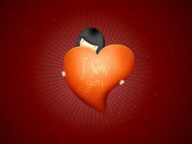 i love you heart held by girl