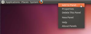 ubuntu - add to panel