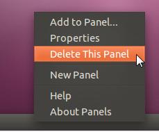 ubuntu - delete this panel
