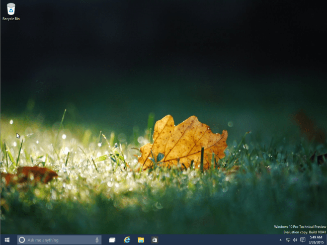 windows 10 - desktop
