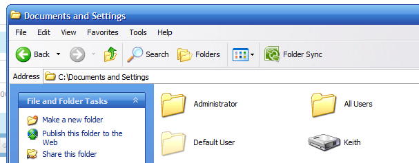 how to change user profile to different drive