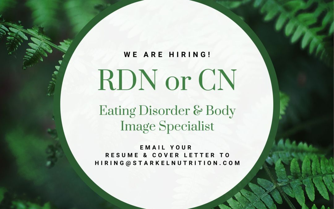 Join Our Team as a Nutritionist! - Eating Disorder Registered Dietitian or CN -