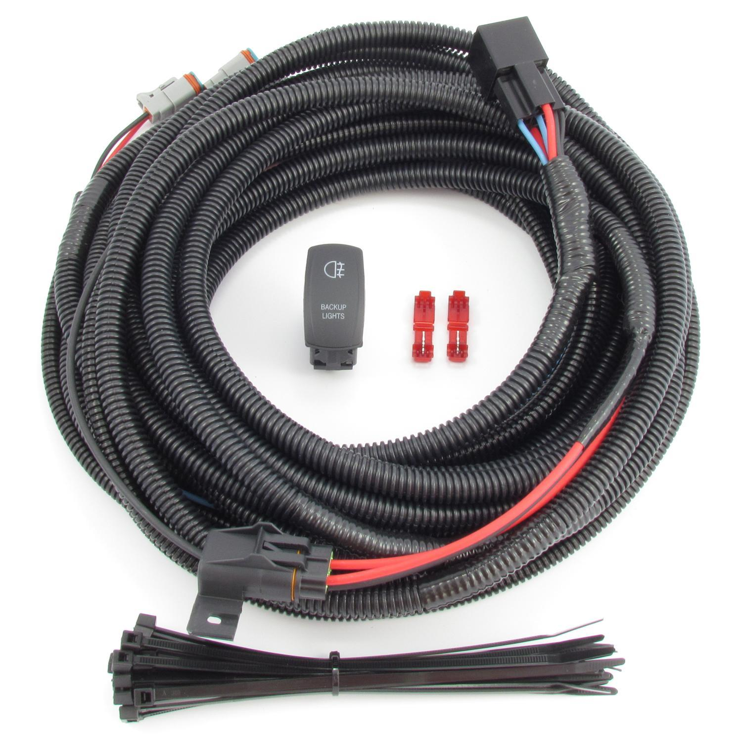 hight resolution of backup auxiliary lighting wiring switch kit fits all truck suv