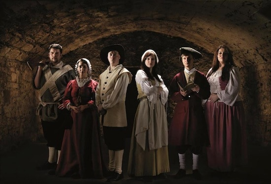 Some of the cast of characters at the Real Mary King's Close