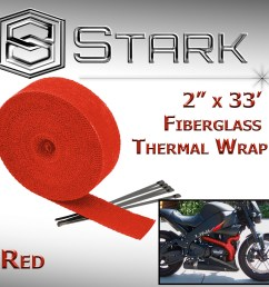 details about 2 x 33 in x ft motorcycle protection header exhaust heat wrap ties red a  [ 1200 x 1200 Pixel ]