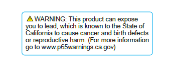 Prop 65 Warning Label Size Requirements