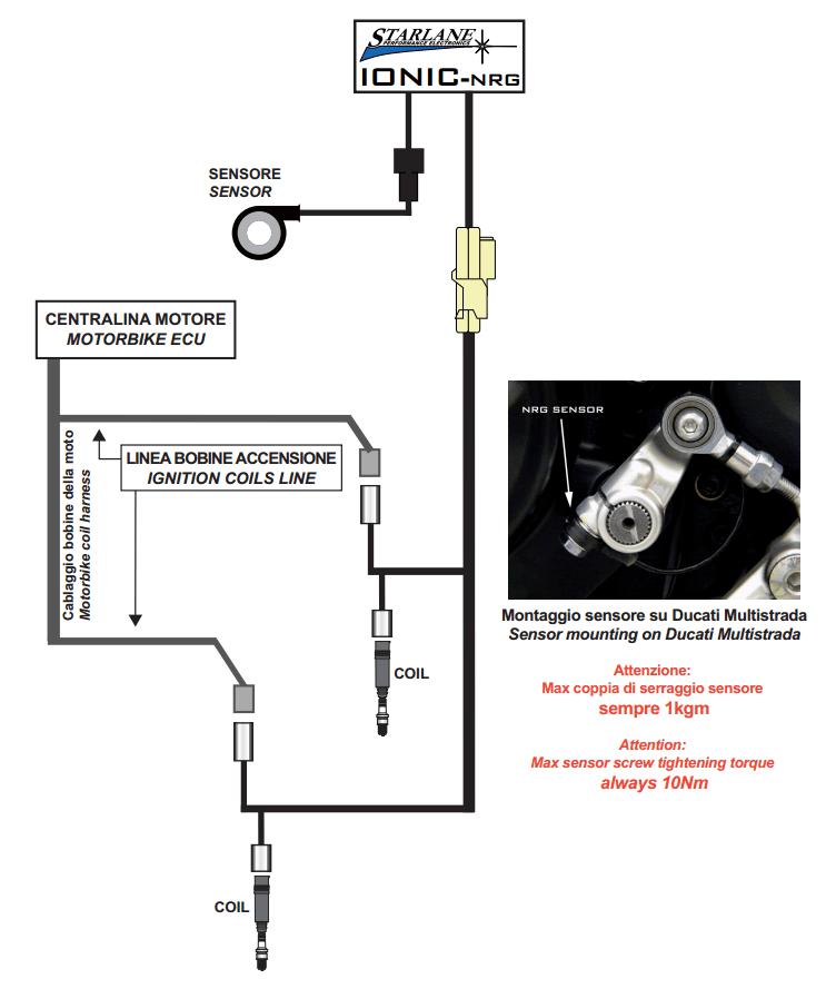 DUCATI plug-in für Quickshifter / Schaltautomat für Diavel