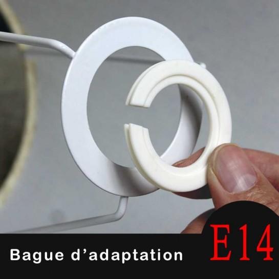 Bague D Adaptation En Nylon Pour Abat Jour E27ou B22 Vers E14
