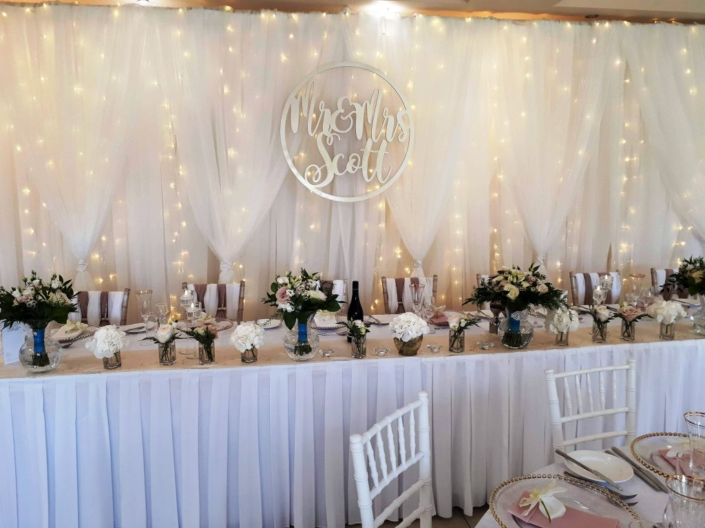 wedding backdrop hire starlight