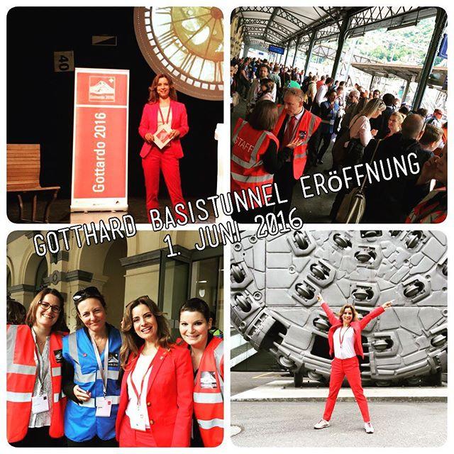 Eröffnung des Gotthard Basistunnels mit Moderatorin Isabel Florido