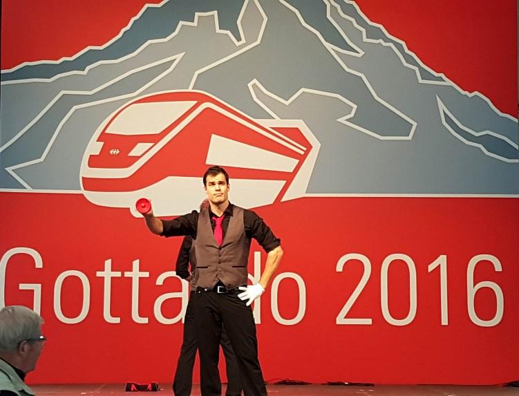 inmot!on an der grossen Party zur Eröffnung des Gotthard Basistunnels
