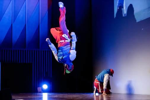 Breakdance für die regionalen Verkehrsbetriebe Baden/CH