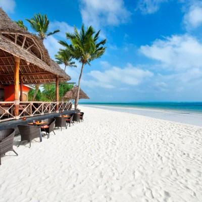 A beach restaurant in Zanzibar