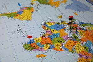 Atlas map showing Africa