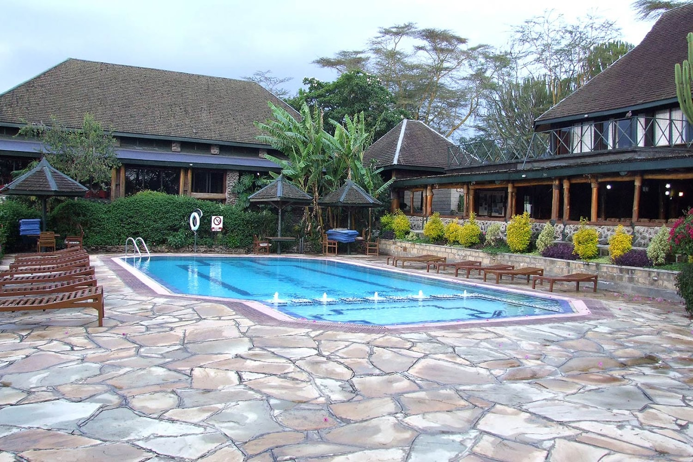 Lake Nakuru Lodge swimming pool