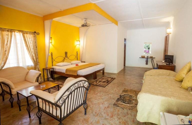 A room at Seaview Resort.
