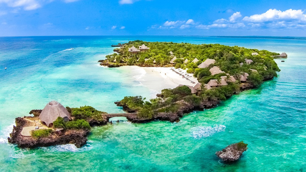 Aerial view of The Sands at Chale Island