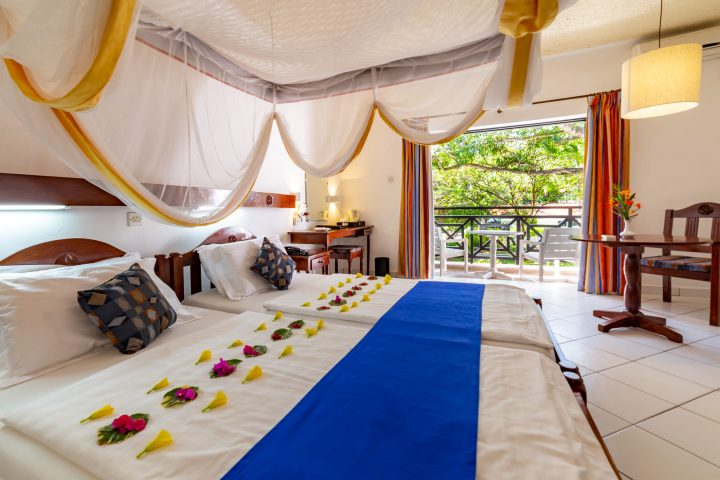 A room at Diani Sea Resort.