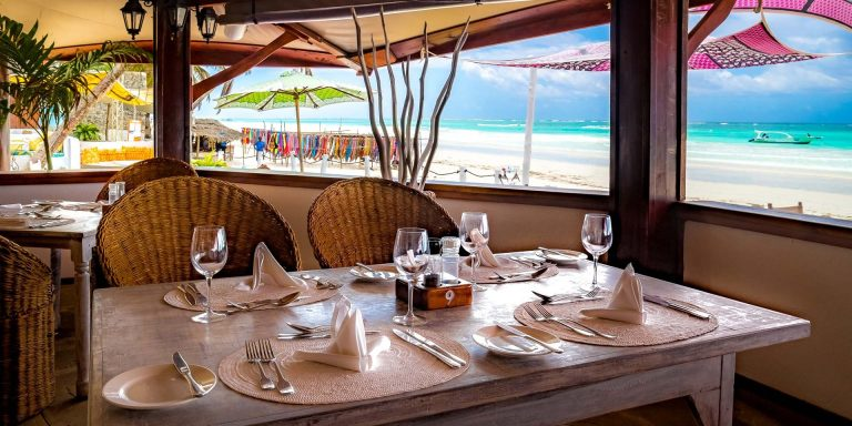 A set table at The Sands at Nomad.