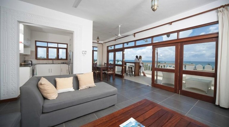 One of the suites at Lantana Galu Beach