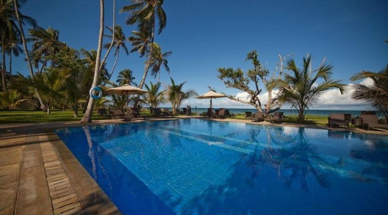One of two swimming pools at Lantana Galu Beach