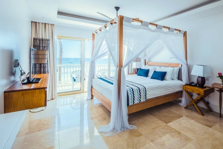 Ocean-view room at Heminways Watamu.
