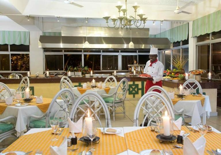 Restaurant at Neptune Beach Resort.