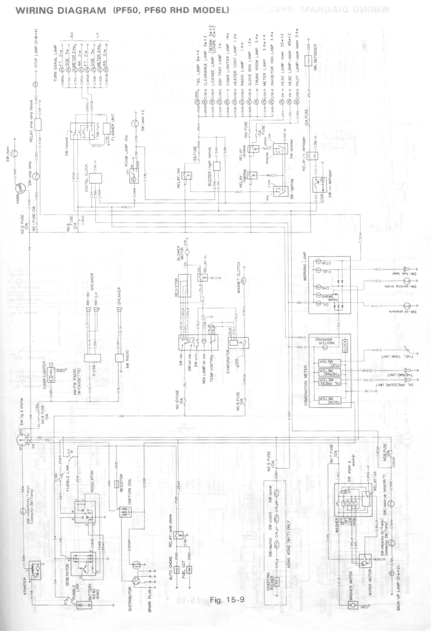 hight resolution of isuzu gemini wiring diagram wiring diagram schematics rh ksefanzone com isuzu rodeo radio wiring diagram isuzu