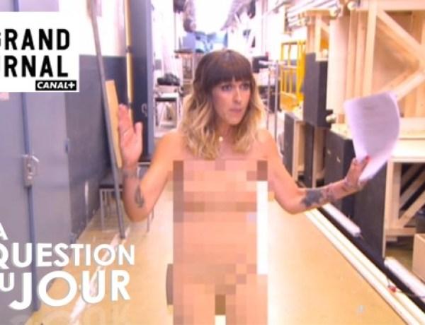 Daphné Burki nue pour le lancement du «Grand Journal» de Canal +