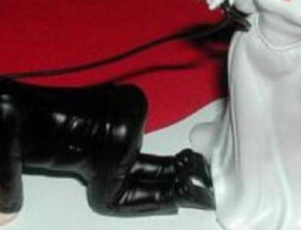 Allemagne : Une femme balade son mari nu avec une laisse!