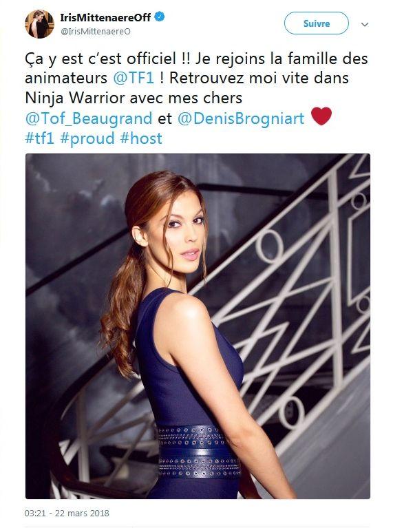 Iris Mittenaere : Miss Univers devient animatrice pour TF1