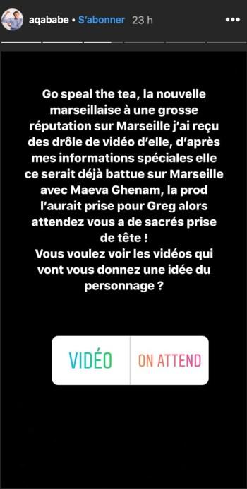 """Les révélations d'Aqababe sur Maissane, la nouvelle candidate des """"Marseillais""""."""