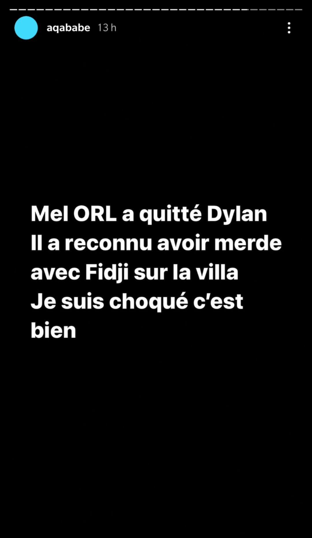 Dylan Thiry et Mélanie ORL en couple ? Il penserait encore à son ex Fidji Ruiz !