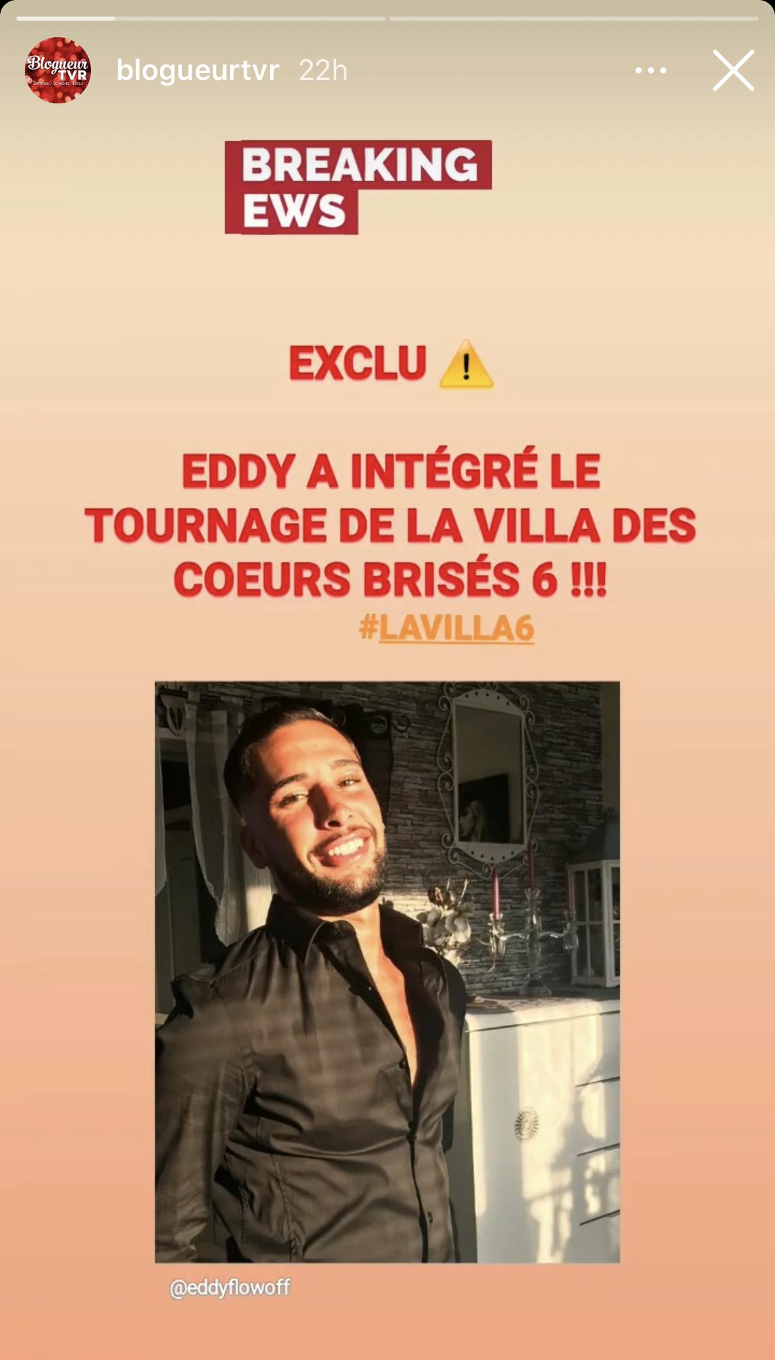 Eddy intègre La Villa des Coeurs Brisés 6 !