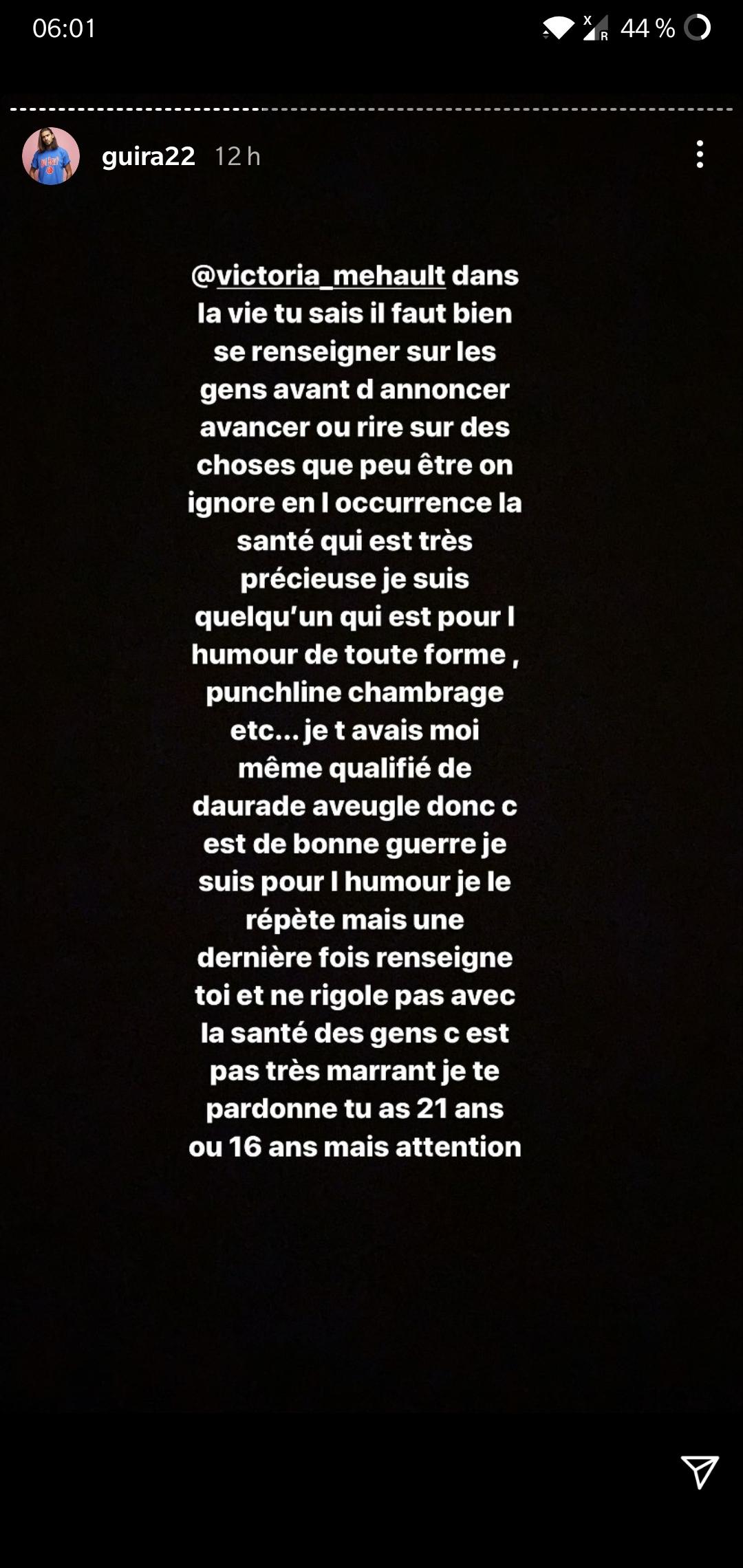 Julien Guirado : Taclé sur son physique par Victoria Mehault, il la clashe !