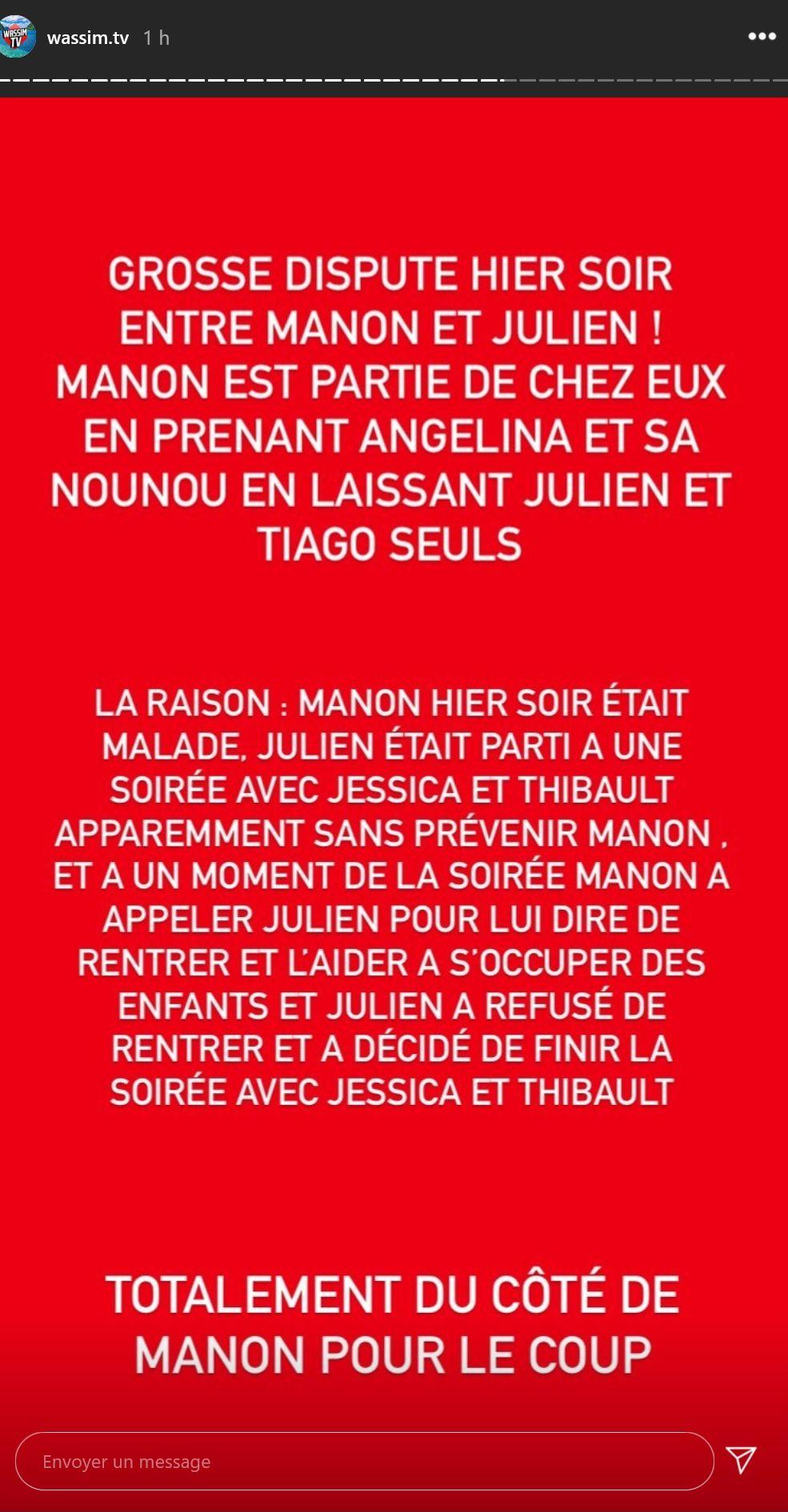 Manon Marsault malade et délaissée par Julien Tanti : Elle quitte le domicile avec Angélina !