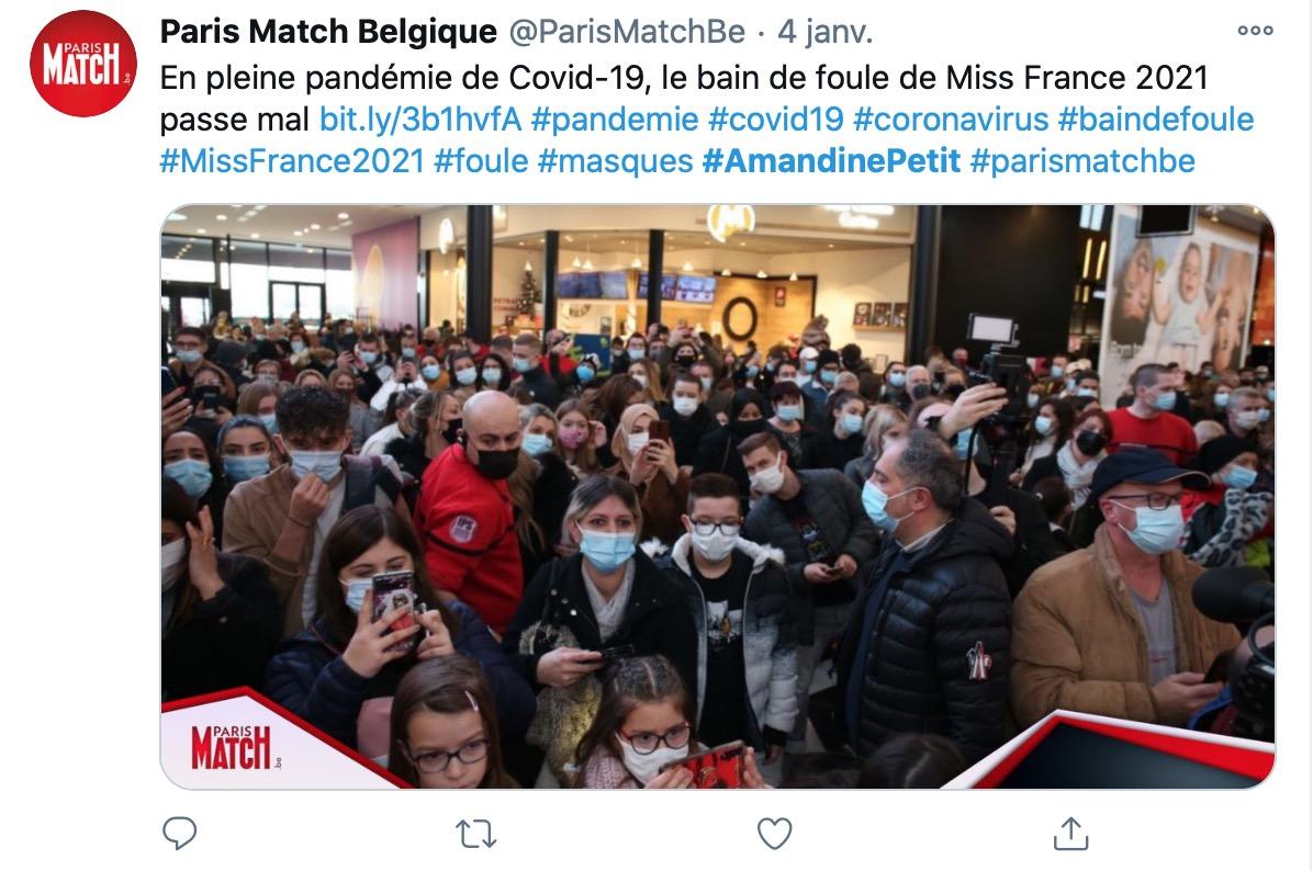 Miss France 2021 : Amandine Petit tente de se défendre après la cohue provoquée par son passage en Moselle