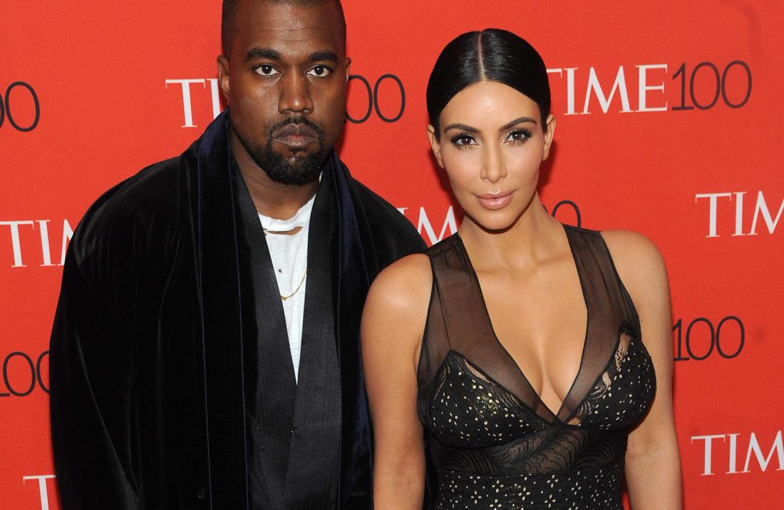 Kim Kardashian et Kanye West @Belga Image